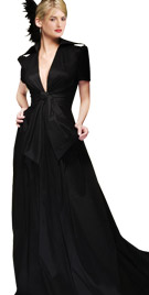 Splendid Deep V Neck Line Autumn Gown   Autumn Fashion Wear