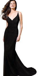 Swanky Spaghetti Strapped Gown