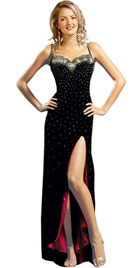Buy Online Thin Spaghetti Straps Autumn Gown
