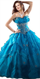 Fascinating Floral Patterned Ball Gown | Ball Gown