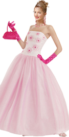 Silk Floral Beaded Ball Gown