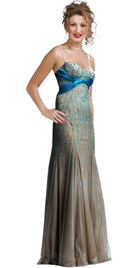 Fully Beaded Twisted Knot Satin Silk Dress