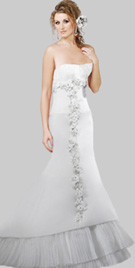 Tiered Hem Gorgeous Wedding Gown
