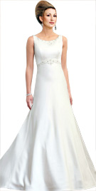 Sumptuous Scoop Neckline Bridal Gown | online Wedding dress
