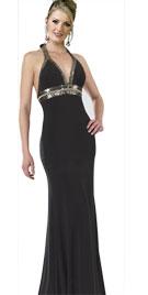 Mermaid Style Halter Bridesmaid Gown
