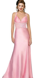 Beaded A-line Bridesmaid Dress
