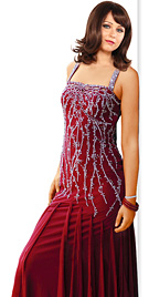 Rattling Beaded Prom Gown