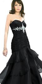 Splendid Strapless Prom Gown