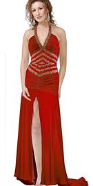 High Slit Evening Dress   Evening Dresses