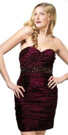 Flattering Strapless Valentines Day Dress