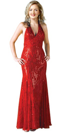 Halter Valentines Day Gown   Red Gowns