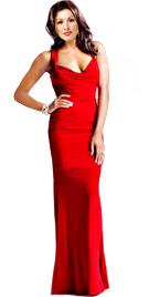 Cowl Neckline Valentines Day Gown | Online Valentines Day Gowns