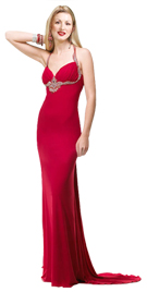 Beaded Empire Waist Valentines Day Gown | Buy Valentines Day Gown