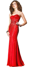 Spectacular Embellished Valentine`s Day Gown | Cheap Sweetheart Neckline Gown Valentine`s Day Gown`s