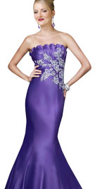 Strapless Valentines Mermaid Gown