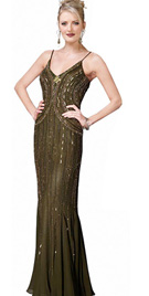 Entirely Beaded Prom Gown