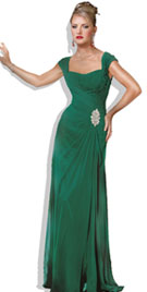 Graceful Floor Length Christmas Gown