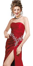 Beautiful Crimson Sizzling Party Dress