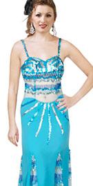 Unique Color Contrast Paneled Dress