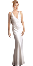 Jersey Crisscross Shoulder Detail Designer Gown