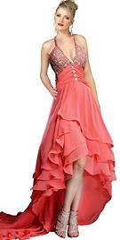 Embellished Halter Ruffled Designer Dress Collection