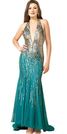 Buy Easter Party Dresses   Deep Plunging Neckline Easter Gown