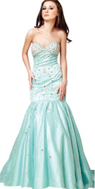 Fish Cut Strapless Easter Gown | Online Easter Dress Collection