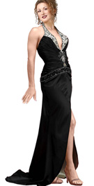 Eclectic halter Evening dress