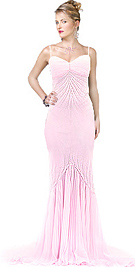Beaded Rhinestone Mermaid Evening dress