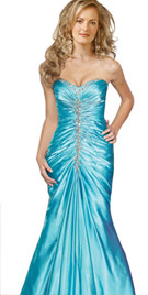 Strapless Mermaid Style Evening Gown