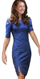 Embroidered Kate Middleton Style Evening Dress