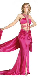 Ornamental satin Evening dress