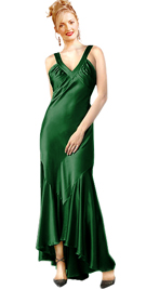 Shierred Satin Halter Evening Dress