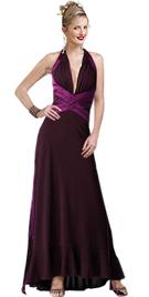 Chiffon Halter Lattice Ribbon Embellished Gown
