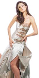 Strapless Designer Fall Dress