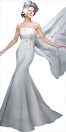 Plush Pleated Bodice Fall Gown   Fall Fashion 2010