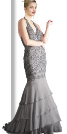 Magnificent Multi Tiered Fall Gown   Fall Dresses