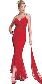 Silk Chiffon Dress With Sweet Heart Neckline & Opulent Hand Beading At The Bustline