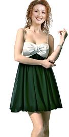 Rhinestone Studded Bow Detail Mini Dress