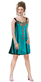 Embellished Short Trapeze Dress