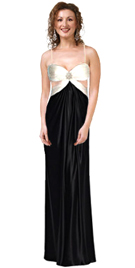 Ruched Bodice Dress With Jewel Accent