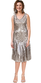 Silk Chiffon Sequined Short Formal Dress
