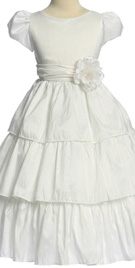 Three tiered flower girl dress