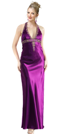 Delightful Hot Halter Gown