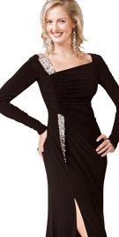 Fabulous Front Slit Dress   Thanksgiving Dresses Collection