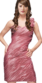 Rose Sleeved Ruched Dress | Evening Dress