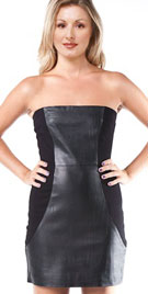 Beautiful Leather Combination Dress