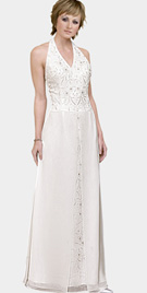 Designer Halter Mother Of The Bride Dress