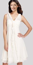 Sleeveless V Neckline Dress