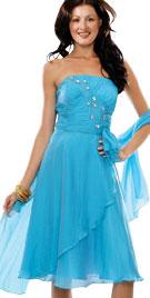 Elegant A-line Ruffle Dress